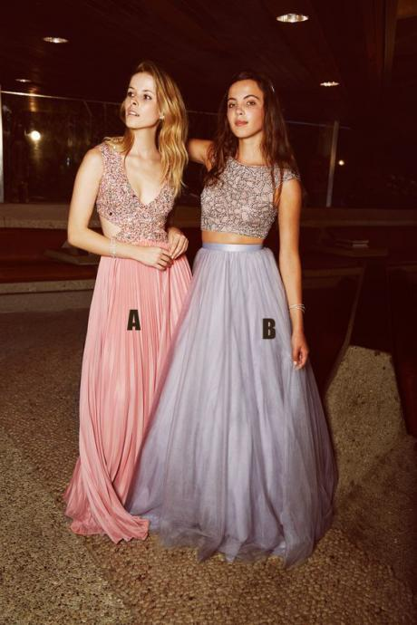 Charming Prom Dress, Crystal Beading Prom Dresses, Long Evening Dress Formal Women Dress
